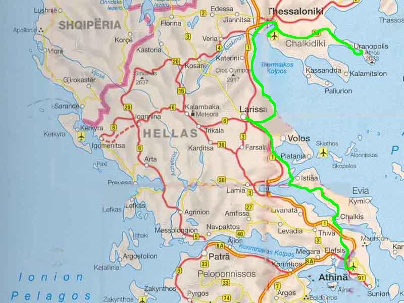 Thessaloniki Karte.Mit Dem Fahrrad In Griechenland